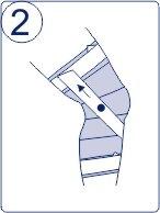 Тейпирование колена, техника тейпирования колена, Pharmacels, шаг 2